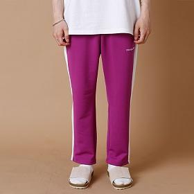 [크로스커렌트] CROSSCURRENT - CCT Side Line Training Pants - PURPLE 트레이닝바지 츄리닝 긴바지