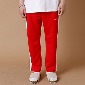 [크로스커렌트] CROSSCURRENT - CCT Side Line Training Pants - RED 트레이닝바지 츄리닝 긴바지