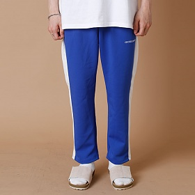 [크로스커렌트] CROSSCURRENT - CCT Side Line Training Pants - BLUE 트레이닝바지 츄리닝 긴바지
