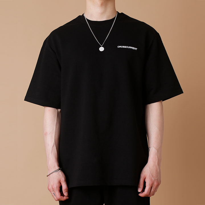 [크로스커렌트] CROSSCURRENT - CCT Small Logo Dick Short Sleeve - BLACK 반팔티셔츠