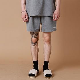 [크로스커렌트] CROSSCURRENT - CCT Small Logo Dick Short Pants - GRAY 반바지