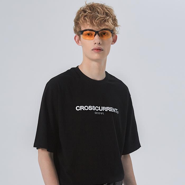 [크로스커렌트] CROSSCURRENT - CCT 로고티셔츠 - BLACK 반팔티셔츠