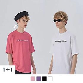 [크로스커렌트] CROSSCURRENT - [1+1]CCT 로고티셔츠 반팔티셔츠