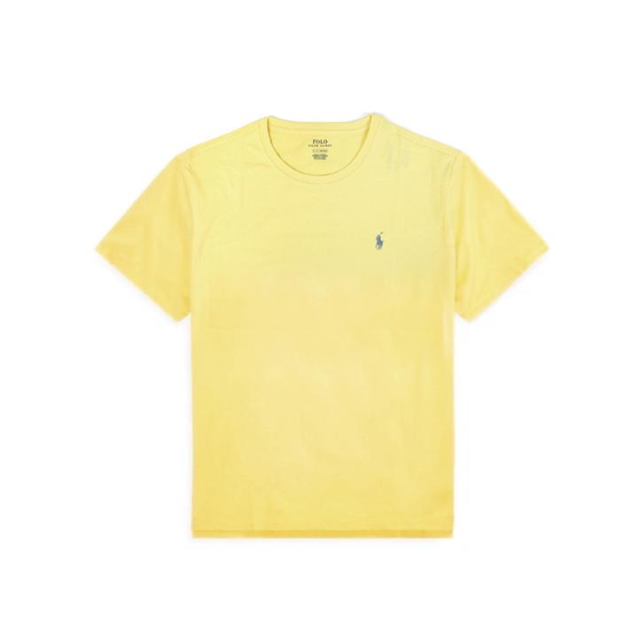 폴로랄프로렌 맨즈 라운드 반팔 티셔츠 7106106667 076 라이트옐로우(블루로고) 남녀공용 Polo Ralphlauren 정품 국내배송