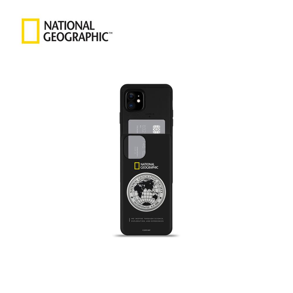 [내셔널지오그래픽]메탈 데코 아이슬라이드 케이스 - 아이폰용