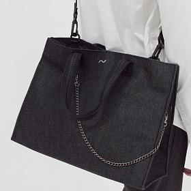 [톰투머로우]TOMTOMORROW signature bag (bk) 토트백 크로스백 숄더백