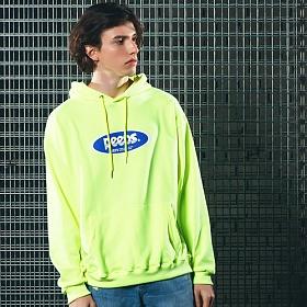 [핍스] PEEPS Basic logo hoody(neon green)_핍스 후드티