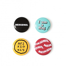 [네이키드니스] LOGO BUTTON BADGE SET (4PCS)