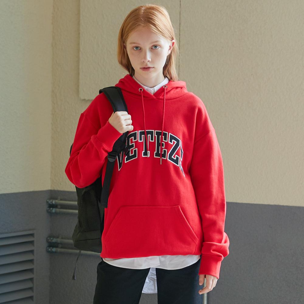 베테제 - Arch Logo Hood (red) 아치 로고 후드