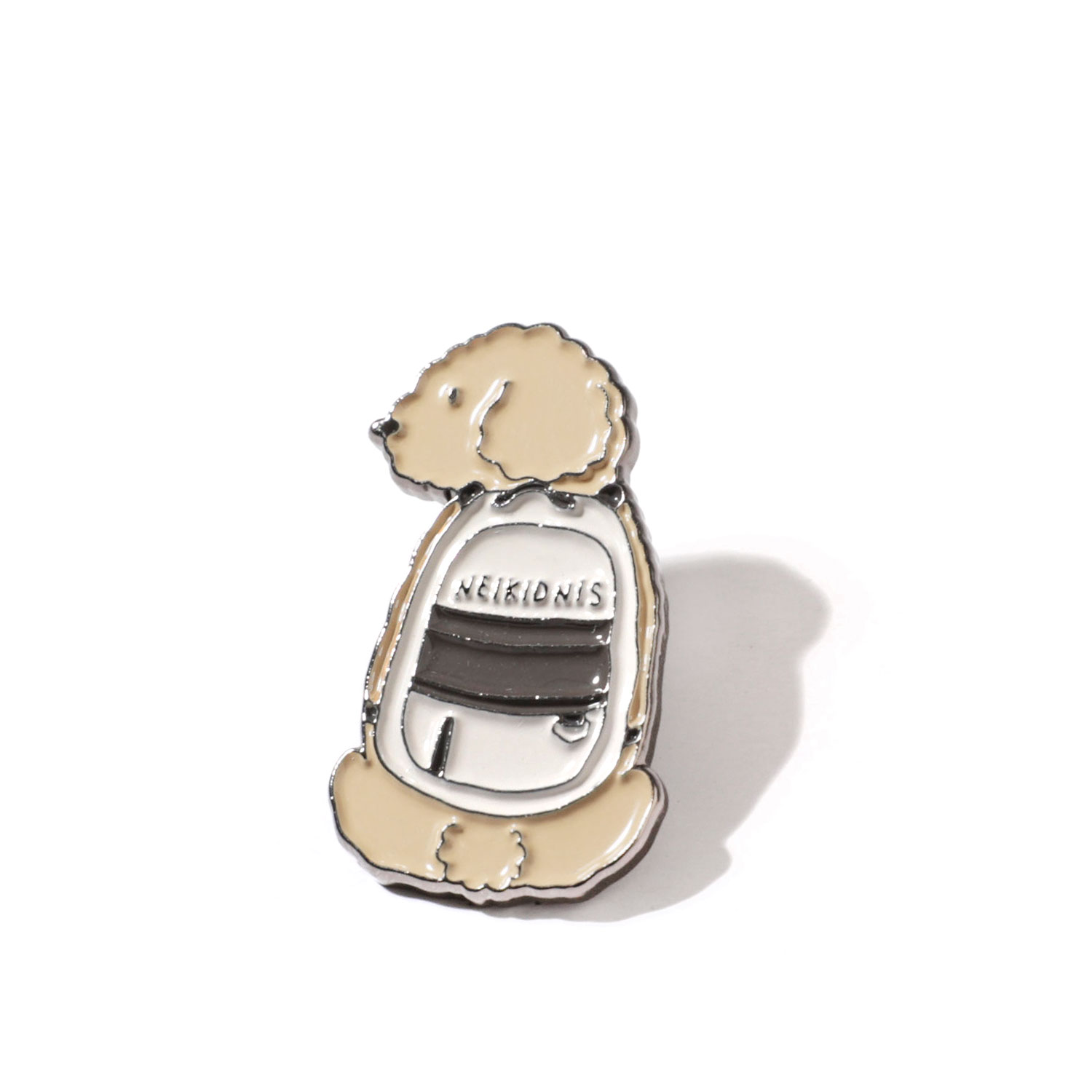 [네이키드니스] PUPPY BAG PIN / BEIGE