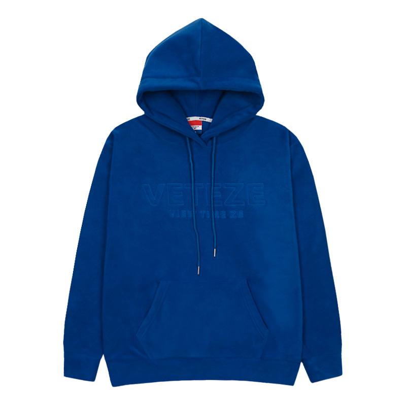 베테제 - Basic Fleece Hood (blue) 베이직 후리스 후드