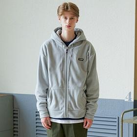 베테제 - Basic Fleece Hood Zipup (gray) 베이직 후리스 후드집업