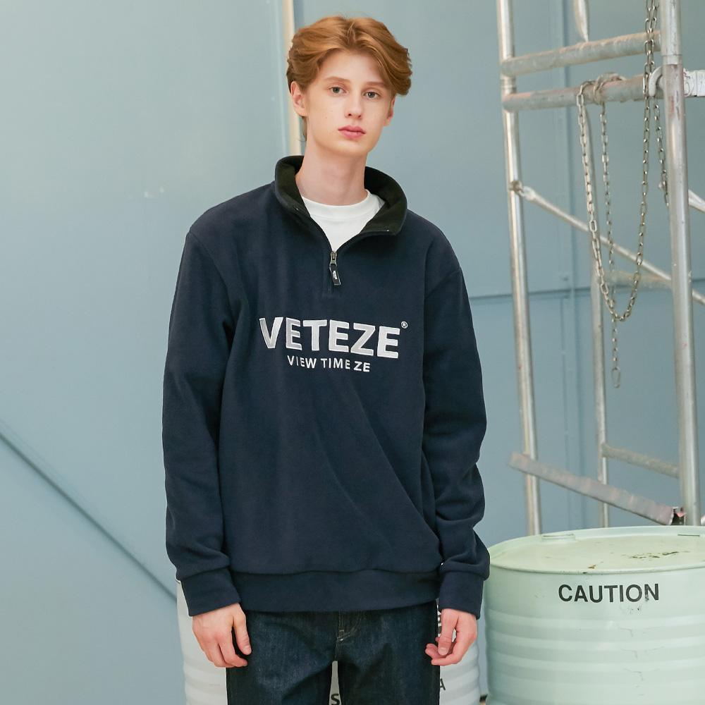 베테제- Basic Fleece Pullover (navy) 베이직 후리스 풀오버