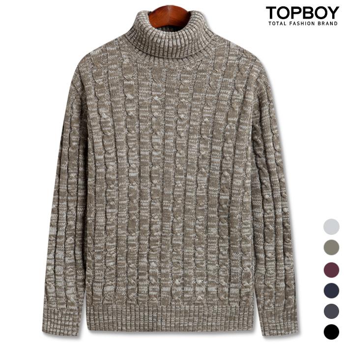[탑보이] 믹스 꽈배기 폴라니트 (TR701)