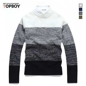 [탑보이] 삼색슬라이드 라운드 니트 (TR385)