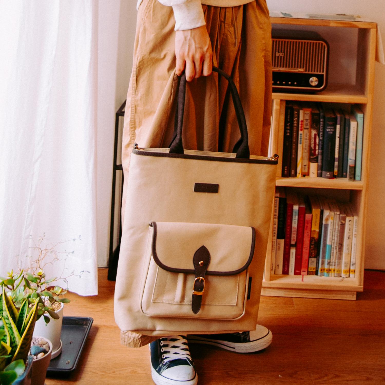 아날로그무드 파노라마 숄더백 (베이지) 토트백 크로스백 아메카지 가방