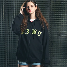 [핍스] PEEPS ABWU hood zip up(black)_핍스 후드집업