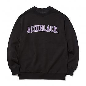 [에시드블랙] ACIDBLACK - ARCH OG LOGO MTM (BLACK) 맨투맨 크루넥 스��셔츠