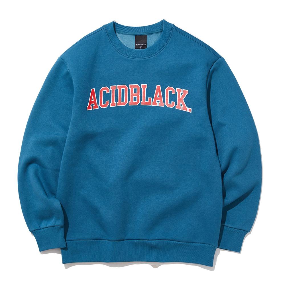 [에시드블랙] ACIDBLACK - ARCH OG LOGO MTM (DEEP BLUE) 맨투맨 크루넥 스��셔츠