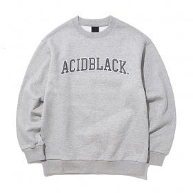 [에시드블랙] ACIDBLACK - ARCH OG LOGO MTM (MELANGE) 맨투맨 크루넥 스��셔츠