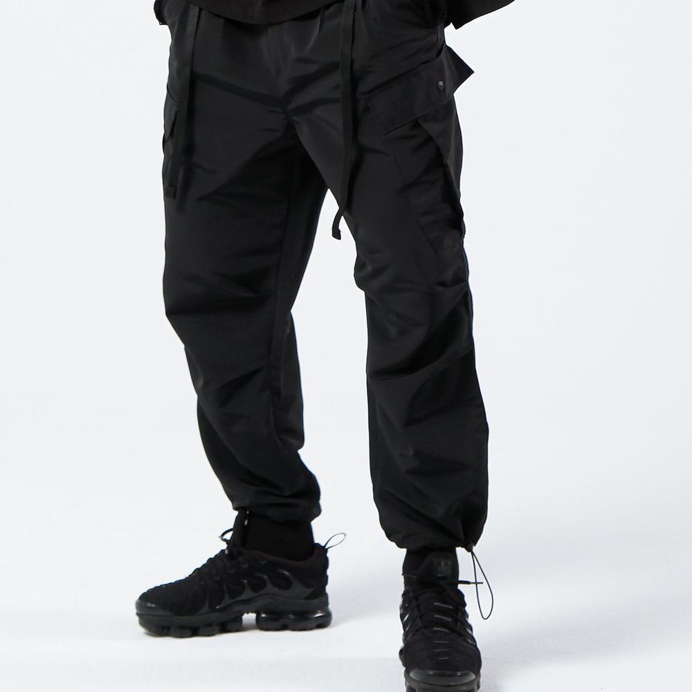 [피스메이커]2TUCK BELTED CARGO PANTS (BLACK) 카고 팬츠 바지