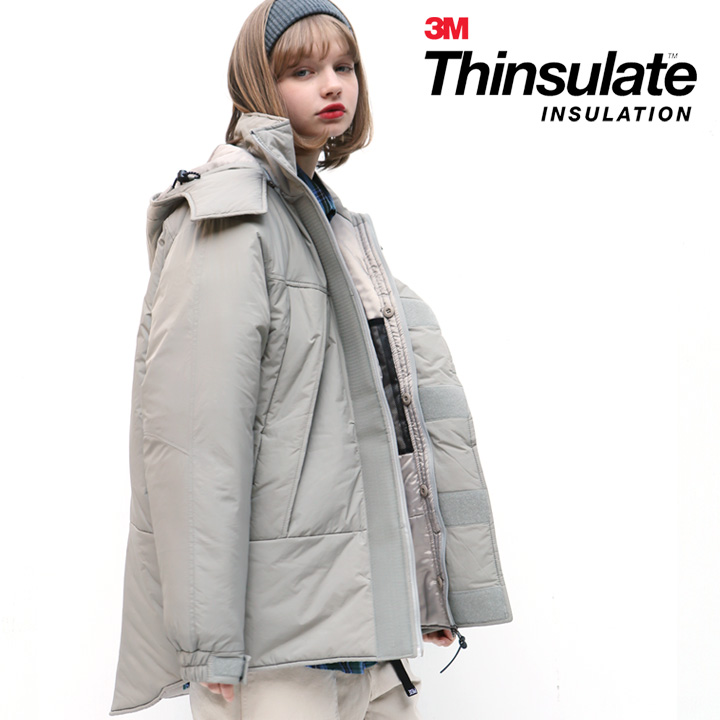 [피스메이커]HOODED MONSTER PARKA (GREY)