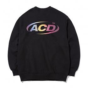 [에시드블랙] ACIDBLACK - ACD NEW ORBIT MTM (BLACK) 맨투맨 크루넥 스��셔츠