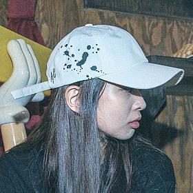 [아케이드코드]INK BOMB BALLCAP - WHITE 볼캡 야구모자