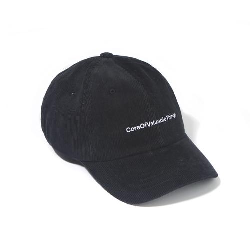 [벗딥]BUTDEEP - CORDUROY CORE CURVED CAP-BLACK 볼캡 모자