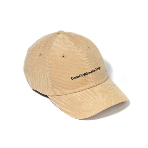 [벗딥]BUTDEEP - CORDUROY CORE CURVED CAP-BEIGE 볼캡 모자