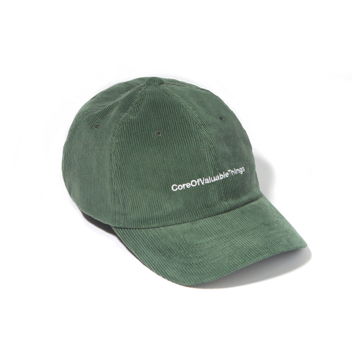 [벗딥]BUTDEEP - CORDUROY CORE CURVED CAP-GREEN 볼캡 모자