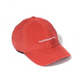 [벗딥]BUTDEEP - CORDUROY CORE CURVED CAP-ORANGE 볼캡 모자