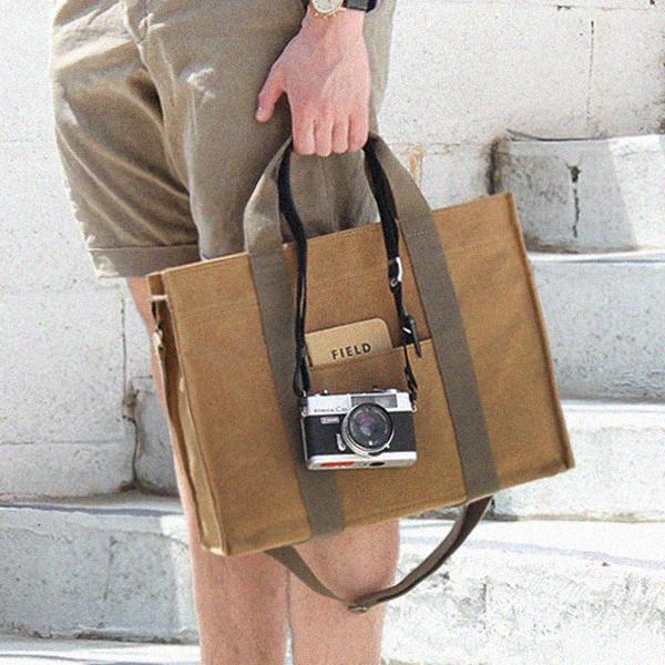 [모노노] MONONO - Square 3 Way Brief Bag (스퀘어 서류가방) (카멜) 브리프케이스 토트백 숄더백 크로스백