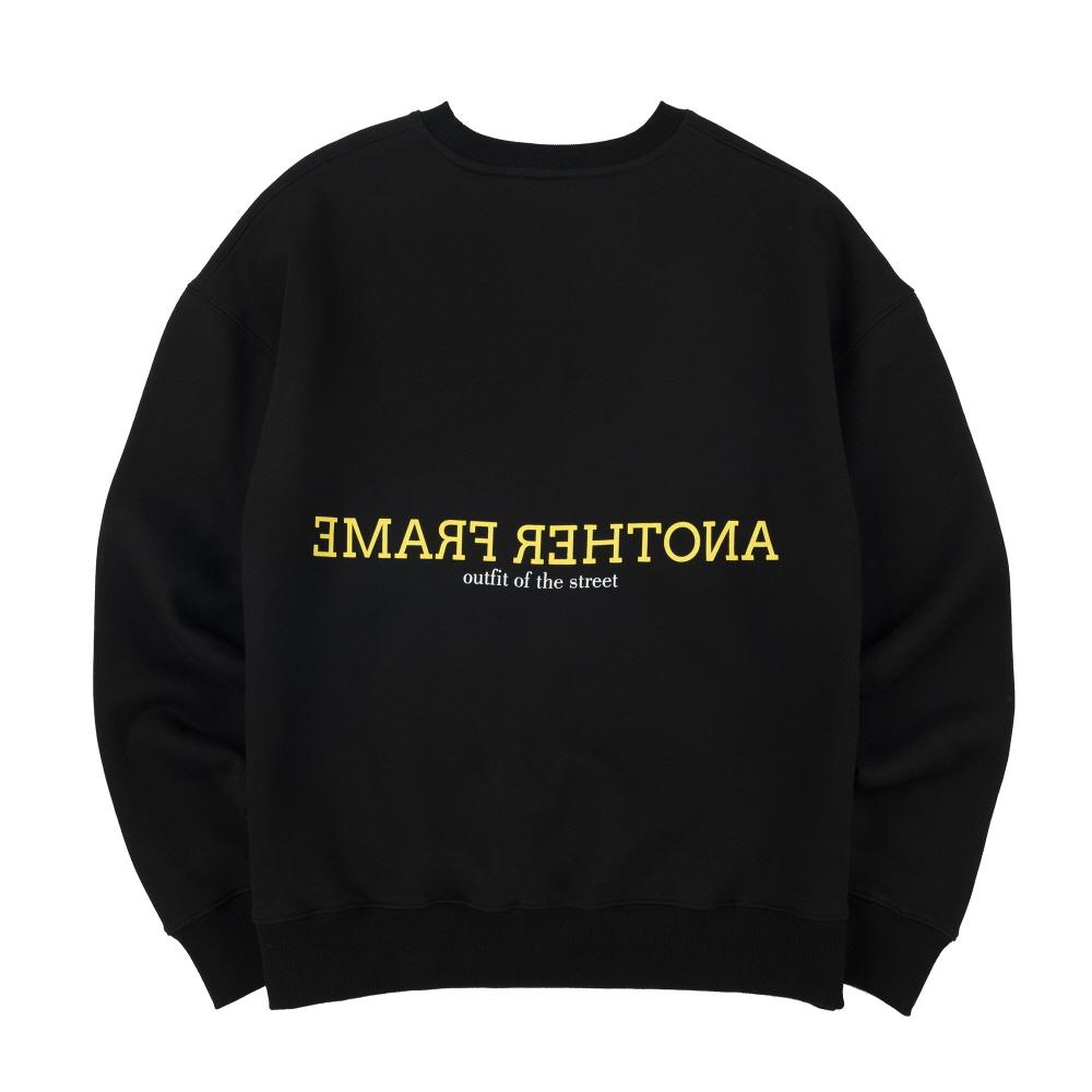 [어나더프레임] CLOUDY COLOR CREWNECK (BLACK) 맨투맨 크루넥 스��셔츠