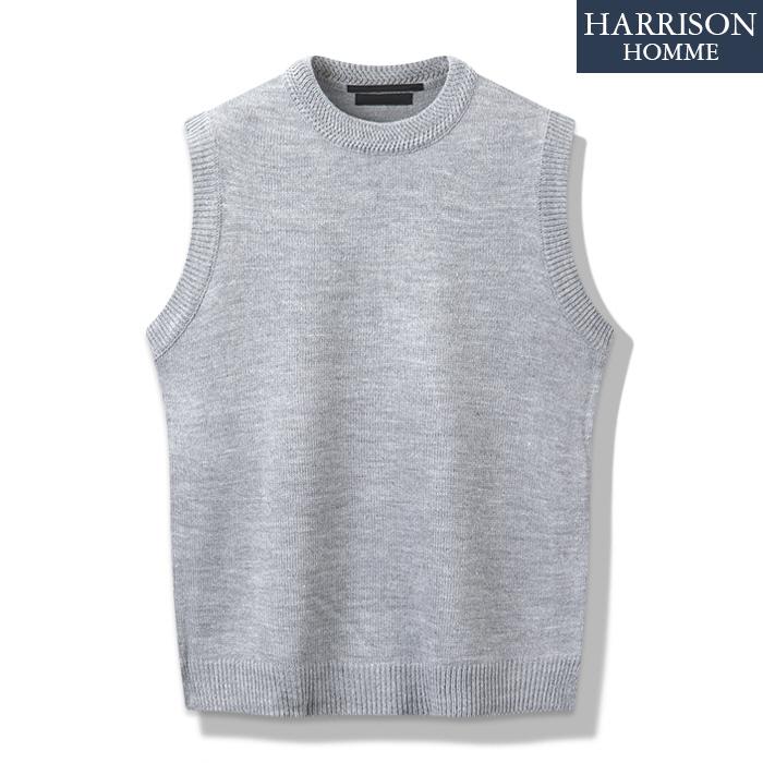 [해리슨] 남자 베이직 R 조끼 니트 MET1510