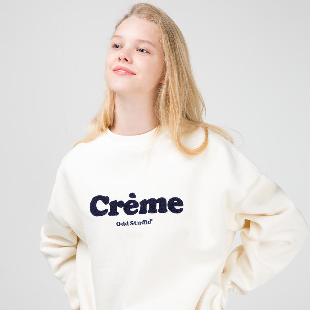 오드스튜디오 크림 맨투맨 티셔츠 - CREAM