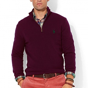 폴로랄프로렌 반집업 니트 스웨터 3158 025 버건디(네이비) POLO 정품 국내배송