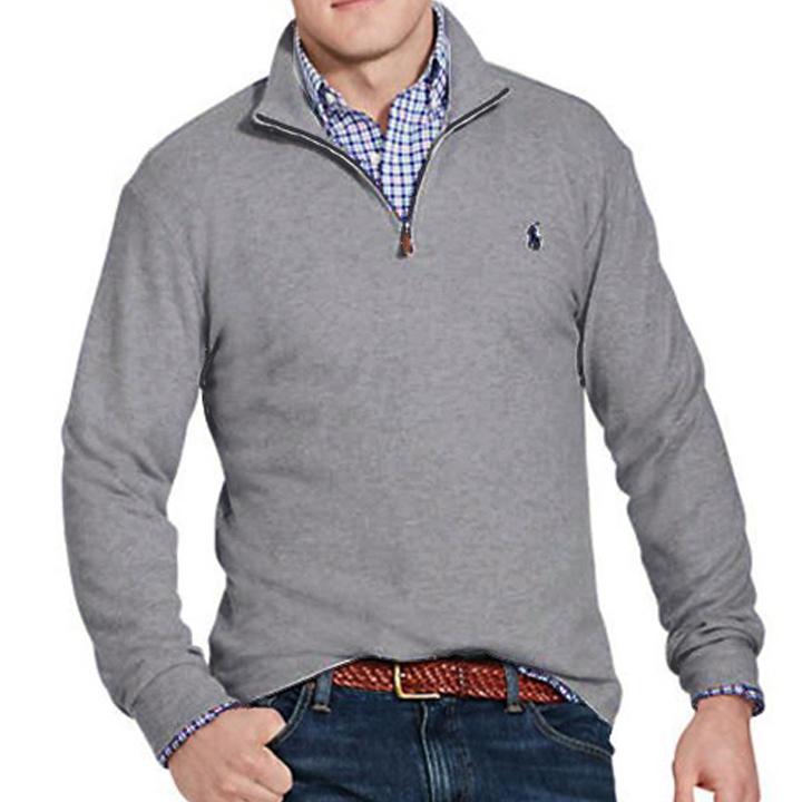 폴로랄프로렌 반집업 니트 스웨터 3158 018 그레이(네이비) POLO 정품 국내배송