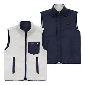 베테제 - Logo Reversible Vest (ivory/navy) 로고 리버시블 베스트 (아이보리/네이비)