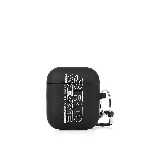 써드위브 VERTICAL LOGO AIRPOD CASE / BLACK 버티칼 로고 에어팟 케이스