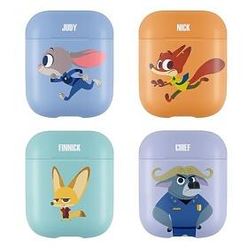[뮤즈캔] - MUZCAN 디즈니 주토피아 에어팟 2 케이스 3D 곡면전사 하드 무선 충전 에어팟2 블루투스 이어폰 아이폰