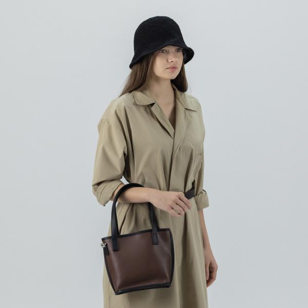 [아텀스튜디오]ATEMSTUDIO 레이 쇼퍼백 브라운 가죽 레더 토트백 여성가방