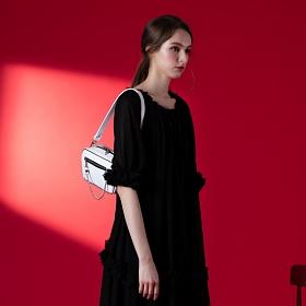 [아텀스튜디오]ATEMSTUDIO 몽드 숄더백 화이트 가죽 레더 토트백 여성가방