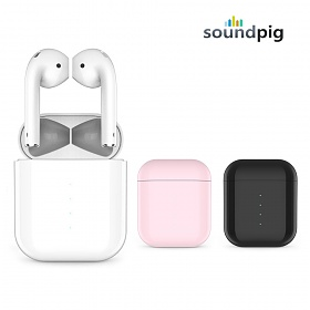 사운드피그 피그팟2 터치 블루투스 무선 이어폰  터치방식 유무선충전 이어폰