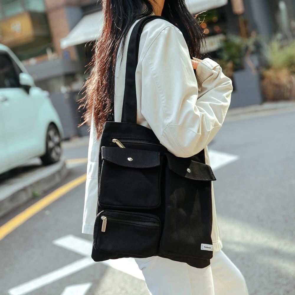 [로아드로아] CL MARK ECO BAG (BLACK) 에코백
