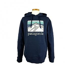 [EspaceOne] PATAGONIA 39584 CNY 파타고니아 라인 로고 릿지 업라이절 후드 티셔츠 F19E351S
