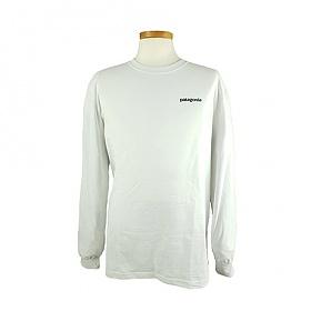 [EspaceOne] PATAGONIA 39161 WHI 파타고니아 로고 긴팔 티셔츠 F19E347S