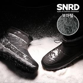 [SNRD] 남성 키높이 겨울부츠 방수방한 패딩부츠 털안감 SN576
