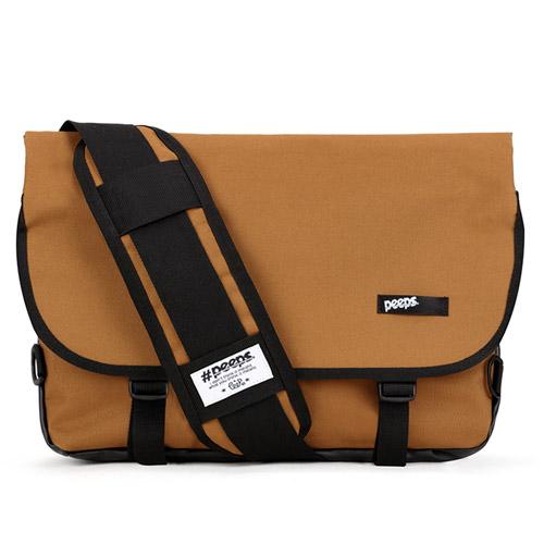 핍스 essential messenger bag(brown) 에센셜 메신저