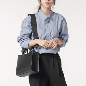 피닉키[FINICKY] -  소가죽 미니토트백 블랙/핸드백/여자가방